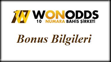 Wonodds Bonus Bilgileri