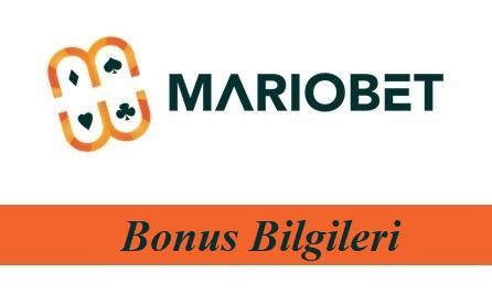 Mariobet Bonus bilgileri